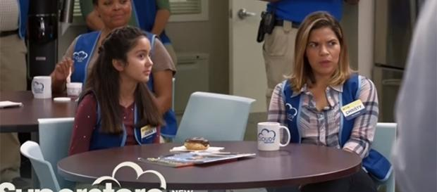 """Amy's daughter Emma steps in as a part-time employee in this week's """"Superstore"""" season 3. (Image Credit: tvpromosdb/YouTube)"""