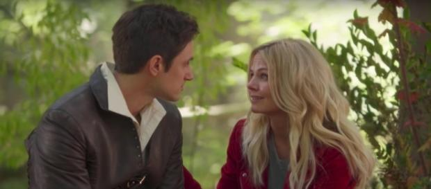 (L-R) Andrew J. West as Henry Mills and Jennifer Morrison as Emma Swan-YouTube/ThatTubaGuy
