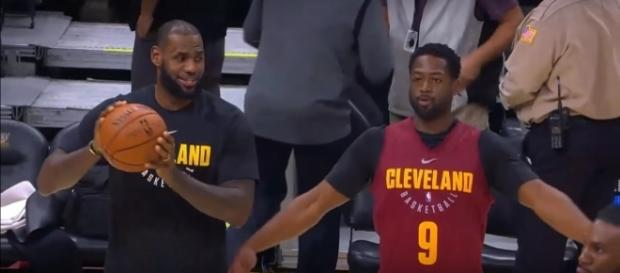 The Cavaliers won their first preseason game with LeBron James on the sideline -- Ximo Pierto via YouTube
