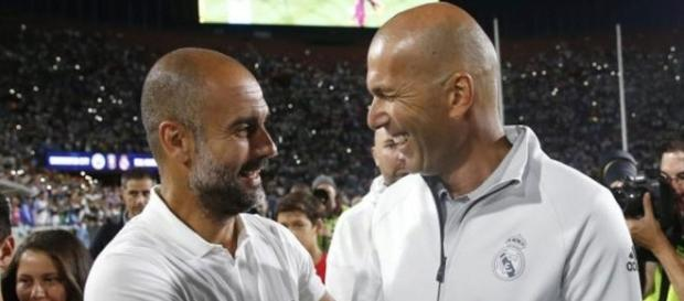 Zidane y Guardiola en la gira de Estados Unidos de este verano.