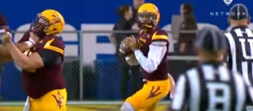Arizona State quarterback Manny Wilkins. -- YouTube screen capture / Pac-12 Network