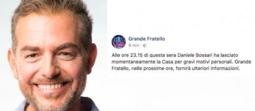 Daniele Bossari ha abbandonato la Casa del GF Vip