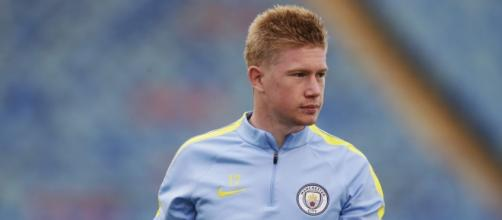 Manchester City midfielder Kevin de Bruyne during a training season with his side.( Image Credit: Oliveroliu/Flickr)