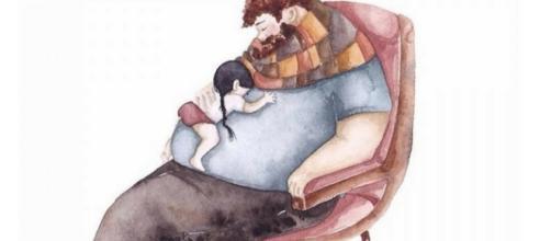 Relação baseada em amor e carinho e, principalmente, a presença do pai na vida da filha