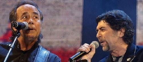 Serrat y Sabina, en una de sus actuaciones juntos.