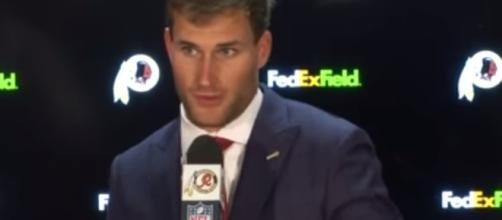 Washington Redskins quarterback Kirk Cousins. -- YouTube screen capture / Washington Redskins