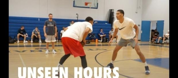Jayson Tatum dreams of guarding LeBron James. (Image Credit - Pure Sweat Basketball/YouTube Screenshot)