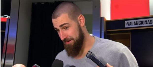 Jonas Valanciunas is subject of trade rumors – (Image Credit: Raptors media/Youtube)