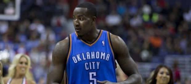 Kendrick Perkins with the OKC Thunder (Image Credit: Keith Allison/Flickr)