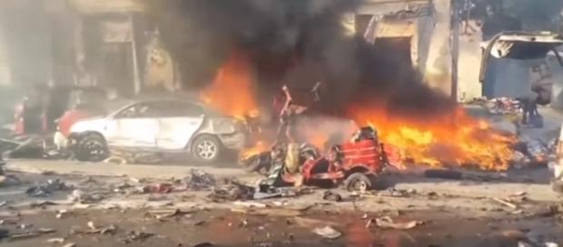 Police: Truck bomb kills 20 in Somalia's capital [Image via YouTube/Associated Press]