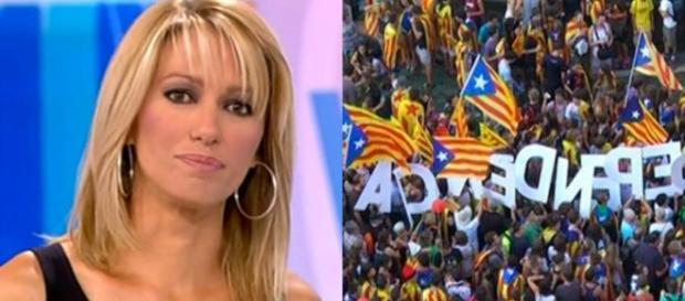 Susanna Griso y la bandera de Cataluña