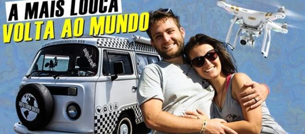 Vanessa e Otaviano viajam pelo mundo em uma Kombi motorhome há mais de 1 ano