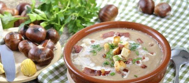 Zuppa di fagioli e castagne, piatto che richiamo i sapori autunnali