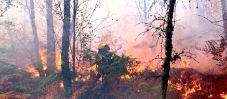Galícia registrou centenas de desabrigados com os incêndios florestais
