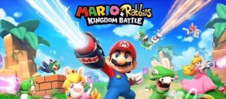 Ubisoft and Nintendo crossover video game 'Mario + Rabbids Kingdom Battle' (via YouTube - Nintendo Prime)