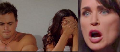 Beautiful, anticipazioni: Quinn vede il figlio a letto con Katie