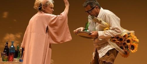 Chiara Noschese e Luca Barbareschi in L'anatra all'arancia, foto di Bepi Caroli