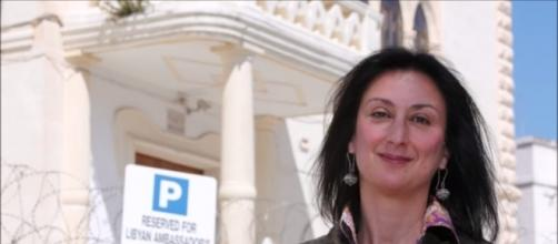Daphne Caruana Galizia, journalist in Malta, assassinated by a bomb planted in her car . [Image Credits: The Vigilant One/ YouTube screencap]