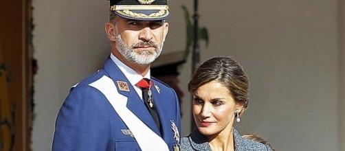 Don Felipe y Doña Letizia en el acto del día de la Hispanidad