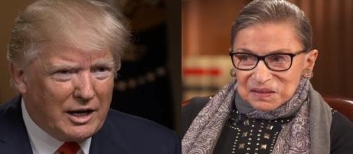 Donald Trump, Ruth Bader Ginsburg, via YouTube