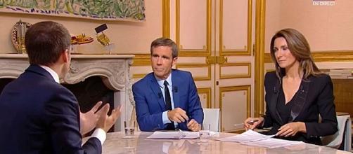 Emmanuel Macron face à David Pujadas et Anne-Claire Coudray