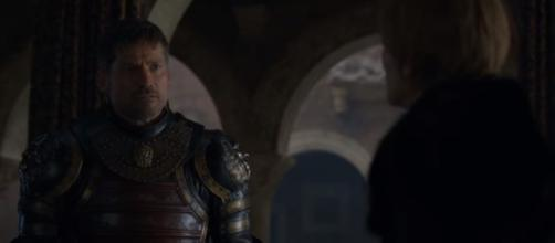 'Game of Thrones' 7x07 - Jaime Lannister leaves King's Landing. (Image Credit: Davos Seaworth/YouTube Screenshot)