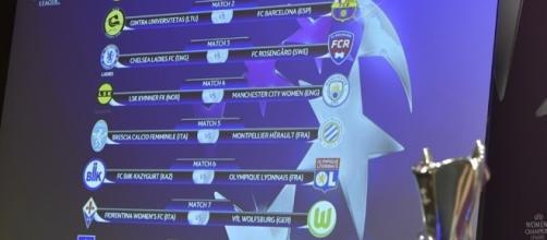 Il tabellone del sorteggio - Foto Uefa.com