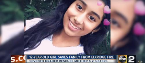 12-year-old girl saves her family from a fire - Image credit - ABC2|Youtube
