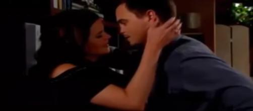Quinn catches Wyatt and Katie together. [Image by The Bold and the Beautiful/Youtube ScreenCapture]