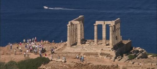 Temple of Poseidon / Cape Sounion / Greece HD Stock Video Footage ... - framepool.com