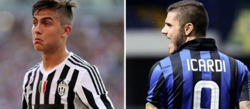 Confronto tra i calciatori Dybala e Icardi