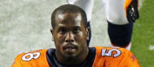 Von Miller, LB for the Denver Broncos. Image by Jeffrey Beall via Commons Wikimedia