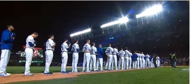 2016 NLCS intros at Wrigley - (Image Credit: MLB / Youtube)