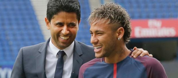 Al Khelaifi & Neymar. Credit photo : sportschau.de