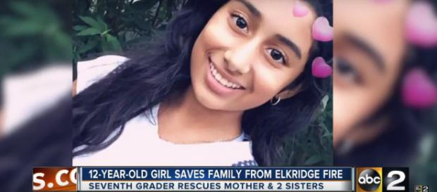 12-year-old girl saves her family from a fire - Image credit - ABC2 Youtube