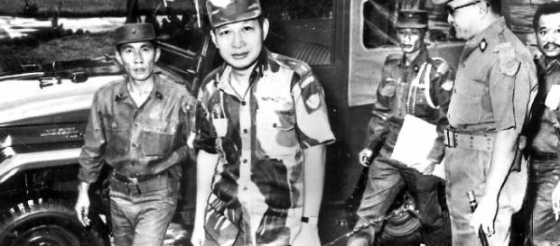 Suharto, photographié en 1965, a mené une tentative de coup d'État en Indonésie. (via the Australian)