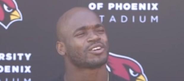 The Arizona Cardinals acquired Adrian Peterson from the Saints earlier this week -- NFL Interviews via WikiCommons