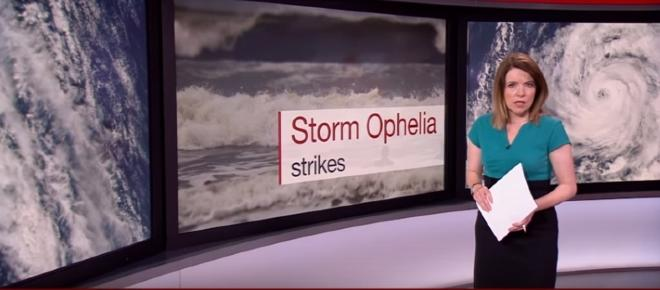 The warpath of Ophelia; From hurricane to post-tropical cyclone