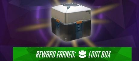 An 'Overwatch' loot box. (image source: Muselk/YouTube)