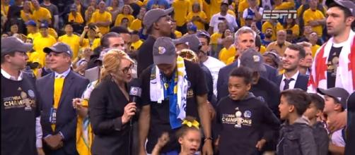 2017 NBA Championship Celebration From Golden State Warriors- [ Image - NBA   YouTube]