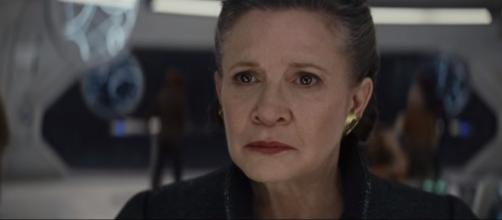 Carrie Fisher as General Organa. [IMage Credits : Youtube/Star Wars]