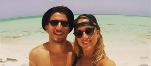Dries e Kat Mertens in una foto in vacanza