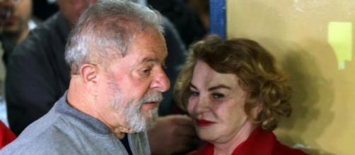 Ex-presidente Lula e sua mulher Marisa Letícia