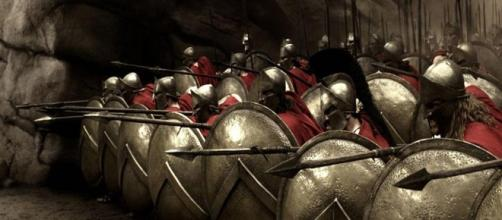 Formação militar espartana no filme 300