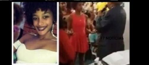 Gisele Kailla de Jesus Adab, de 17 anos, foi assassinada em Simões Filho, Bahia (Foto: Captura de vídeo)