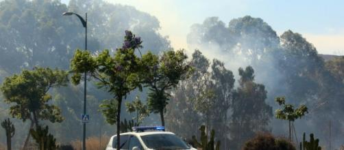 Incendio en Soliva, cerca de Teatinos - La Opinión de Málaga - laopiniondemalaga.es