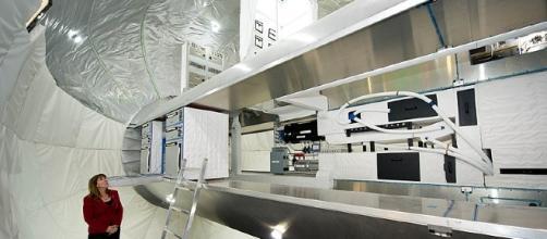 Interior mockup of Bigelow space station [image courtesy of NASA wikimedia commons]