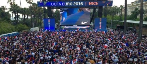 La Fan Zone de Nice durant l'Euro de Football en France