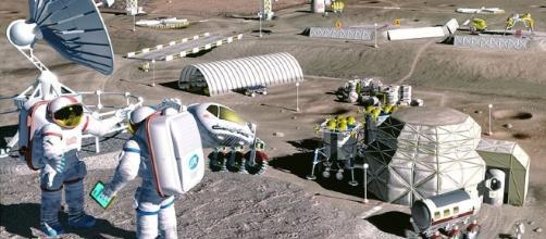 Moon colony [image courtesy of NASA]