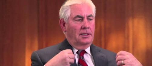 Rex Tillerson insisted that Trump did not castrate him. Image credit: YouTube, ScoutsMessengers.